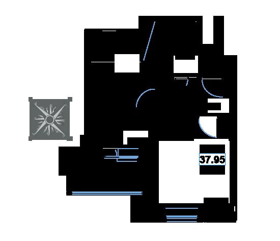 ЖК Рациональ, Корпус 1 в ЖК Рациональ, Секция 1, Этаж 7, №66