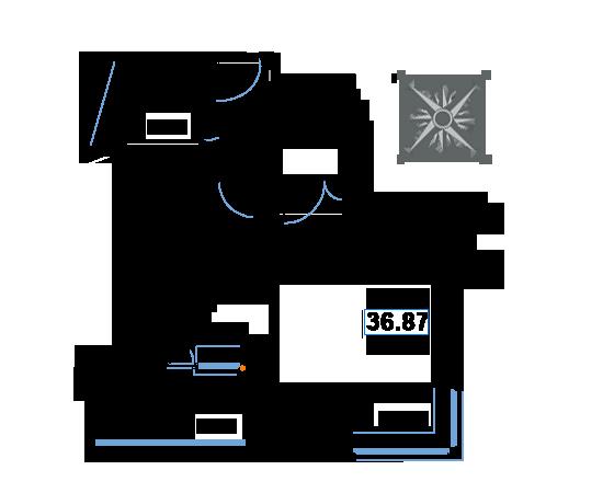 ЖК Рациональ, Корпус 1 в ЖК Рациональ, Секция 1, Этаж 17, №163