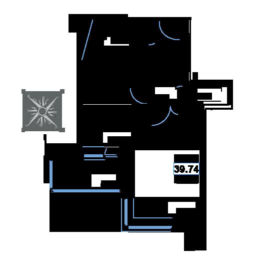 ЖК Рациональ, Корпус 1 в ЖК Рациональ, Секция 1, Этаж 2, №15