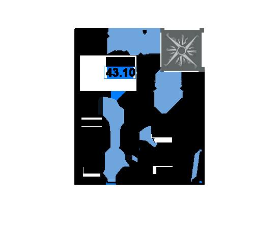 ЖК Рациональ, Корпус 1 в ЖК Рациональ, Секция 3, Этаж 1, №489