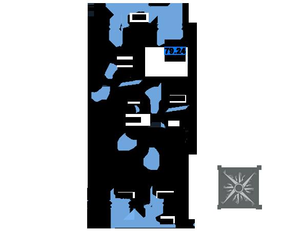 ЖК Рациональ, Корпус 1 в ЖК Рациональ, Секция 3, Этаж 6, №532