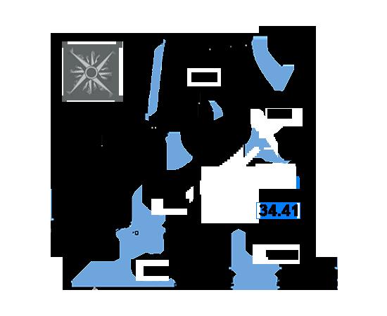 ЖК Рациональ, Корпус 1 в ЖК Рациональ, Секция 3, Этаж 22, №693