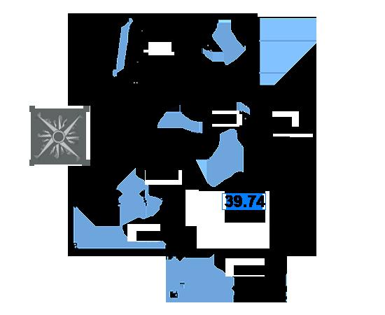 ЖК Рациональ, Корпус 1 в ЖК Рациональ, Секция 3, Этаж 11, №585