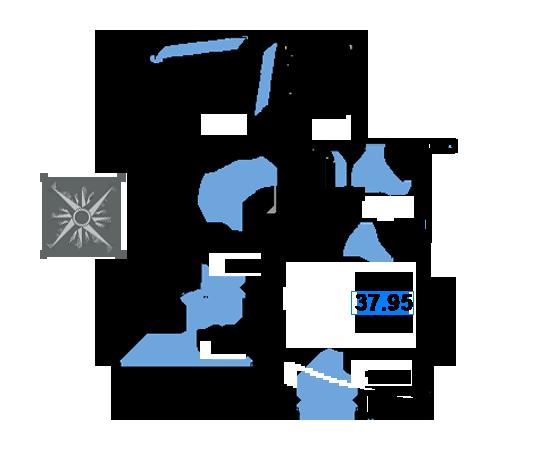 ЖК Рациональ, Корпус 1 в ЖК Рациональ, Секция 3, Этаж 2, №496