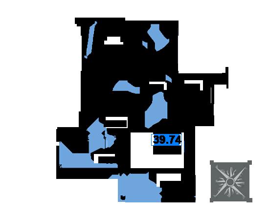 ЖК Рациональ, Корпус 1 в ЖК Рациональ, Секция 3, Этаж 24, №710
