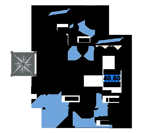 ЖК Рациональ, Корпус 1 в ЖК Рациональ, Секция 3, Этаж 24, №712