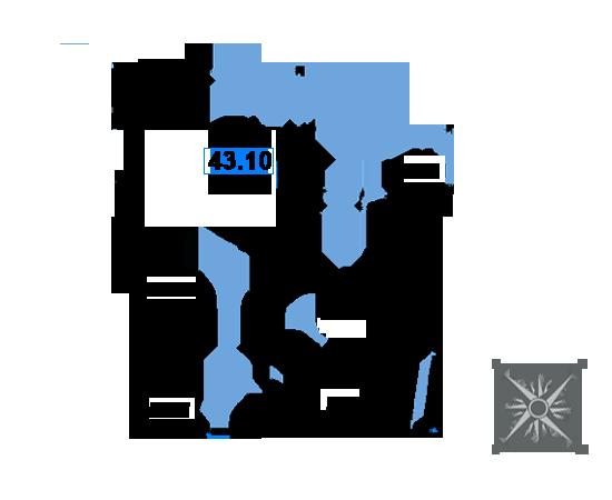 ЖК Рациональ, Корпус 1 в ЖК Рациональ, Секция 3, Этаж 25, №717